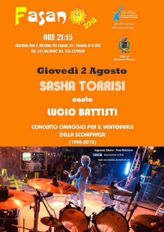 Sasha Torrisi canta Lucio Battisti a Fasano