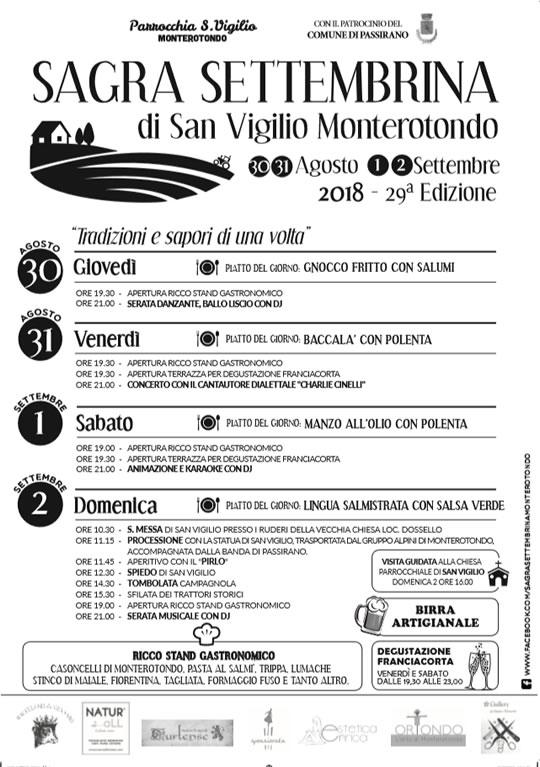 29° Sagra Settembrina di San Vigilio Monterotondo