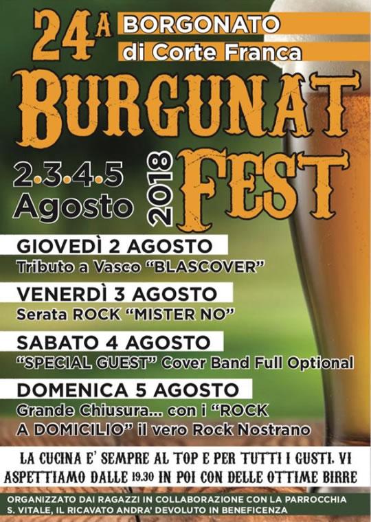 Burgunatfest a Borgognato di Corte Franca