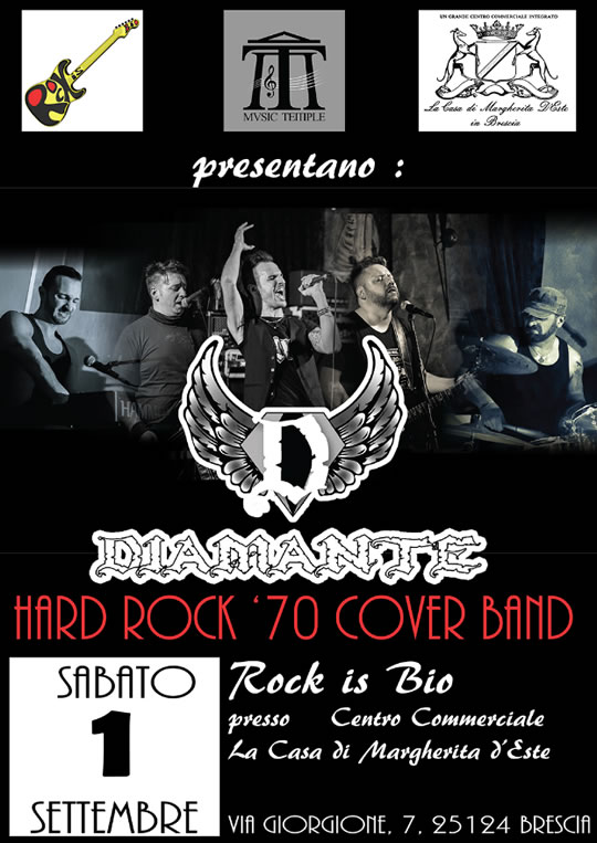 Diamante Hard Rock Band Live a Brescia