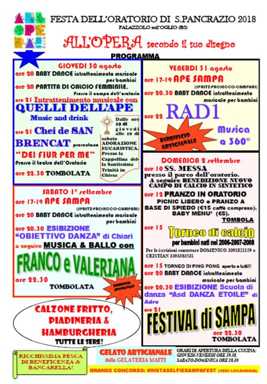 Festa dell'Oratorio di San Pancrazio a Palazzolo sull'Oglio