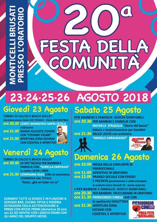 Festa della Comunita' a Monticelli Brusati