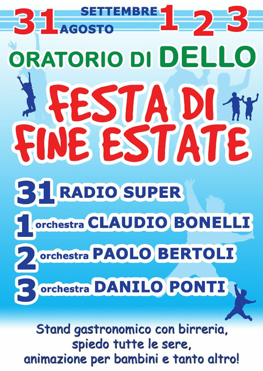 Festa di Fine Estate a Dello