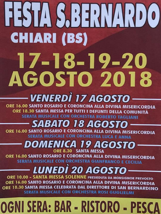 Festa di S. Bernardo a Chiari