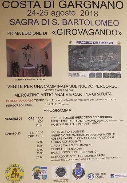 Girovagando Sagra di San Bartolomeo a Costa di Gargnano