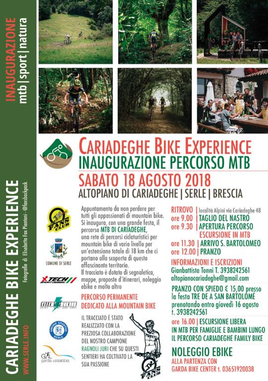 Inaugurazione Cariadeghe Bike Experience a Serle