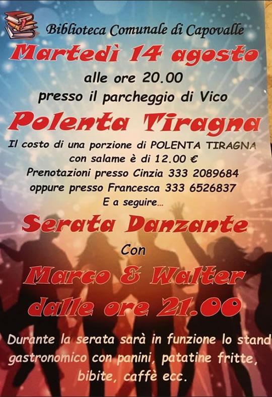 Polenta Tiragna a Capovalle