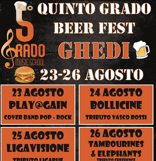Quinto Grado Beer Fest a Ghedi