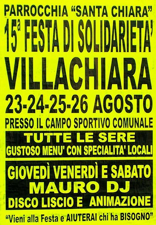 festa di solidarieta a Villachiara