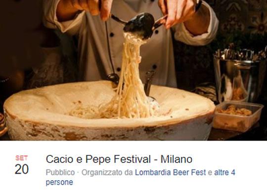Cacio e Pepe Festival a Milano
