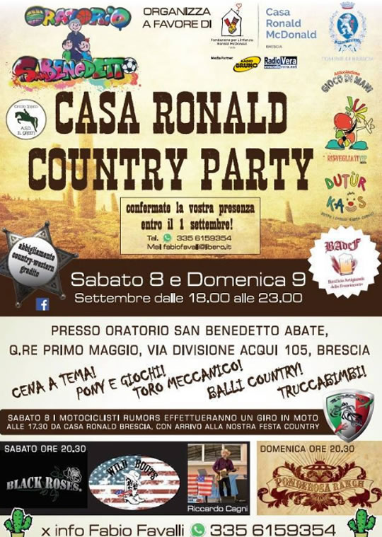 Casa Ronald Country Party a Brescia