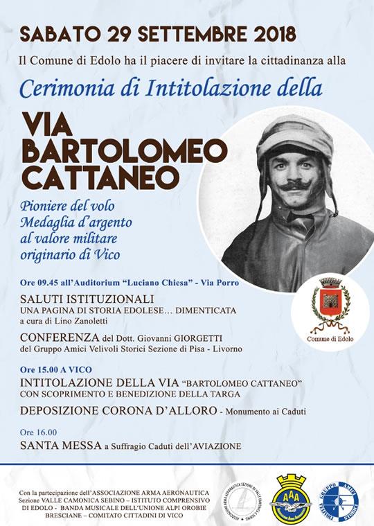 Cerimonia di Intitolazione della Via B. Cattaneo a Edolo