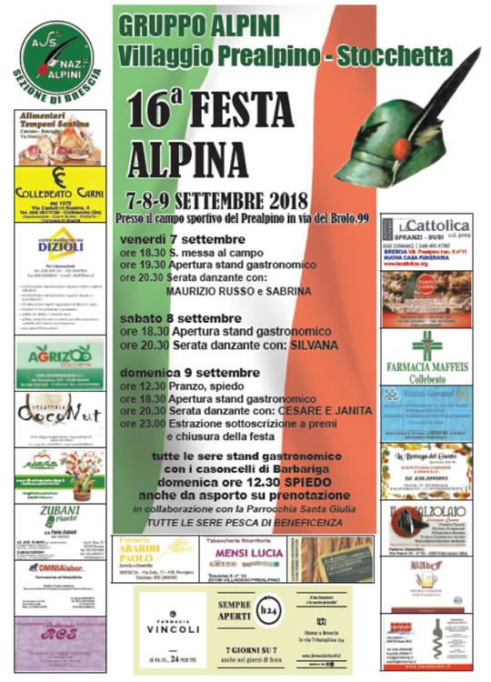 Festa Alpina Gruppo Alpini Villaggio Prealpino