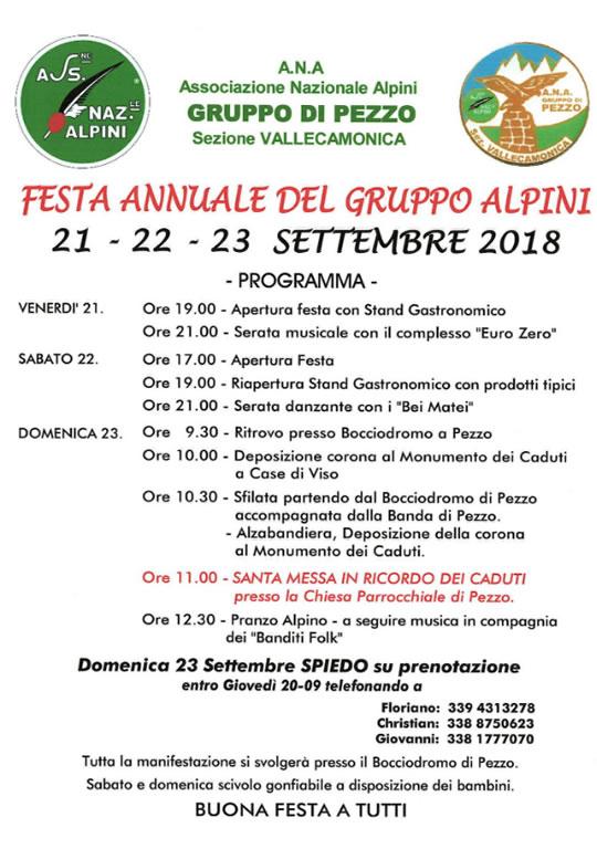 Festa Annuale del Gruppo Alpini a Pezzo