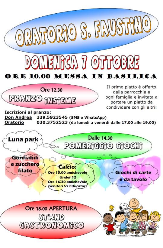 Festa dell'oratorio di San Faustino a Brescia