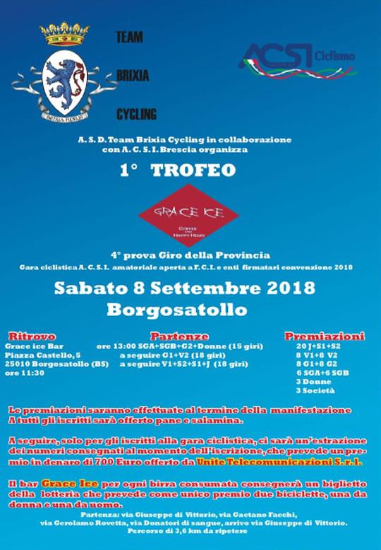 Gara Ciclistica Trofeo Grace Ice a Borgosatollo