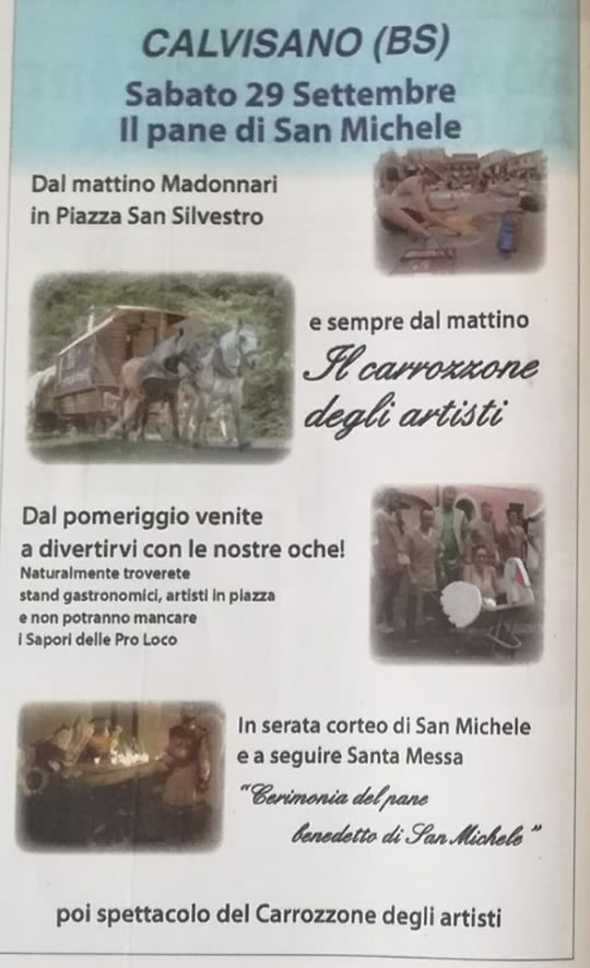 Il Pane di San Michele a Calvisano