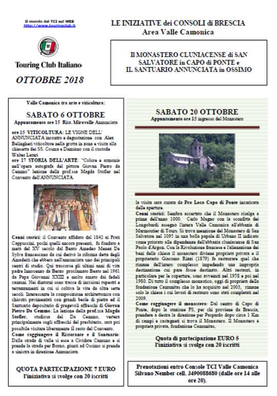 Le iniziative dei Consoli di Brescia in Valle Camonica