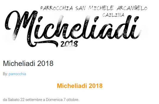 Micheliadi 2018 a Cailina di Villa Carcina