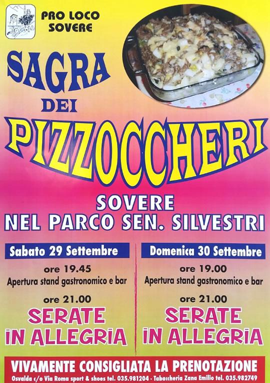 Sagra dei Pizzoccheri a Sovere BG