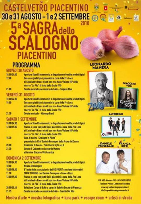 Sagra dello Scalogno Piacentino a Castelvetro Piacentino