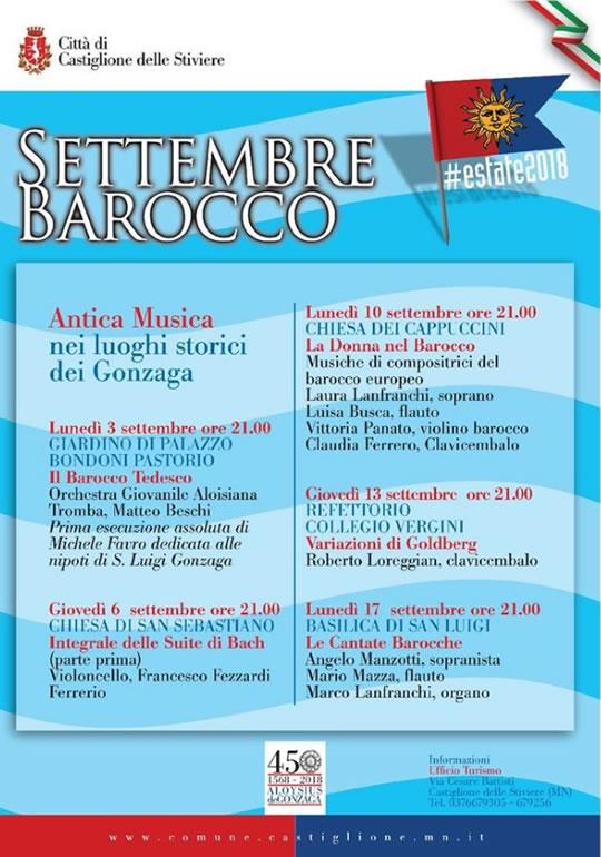 Settembre Barocco a Castiglione delle Stiviere MN