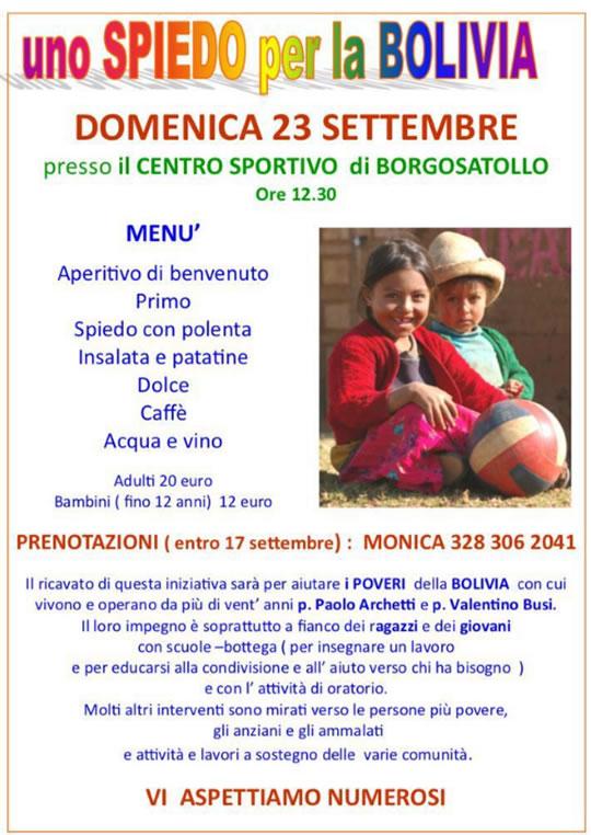 Uno Spiedo per la Bolivia a Borgosatollo