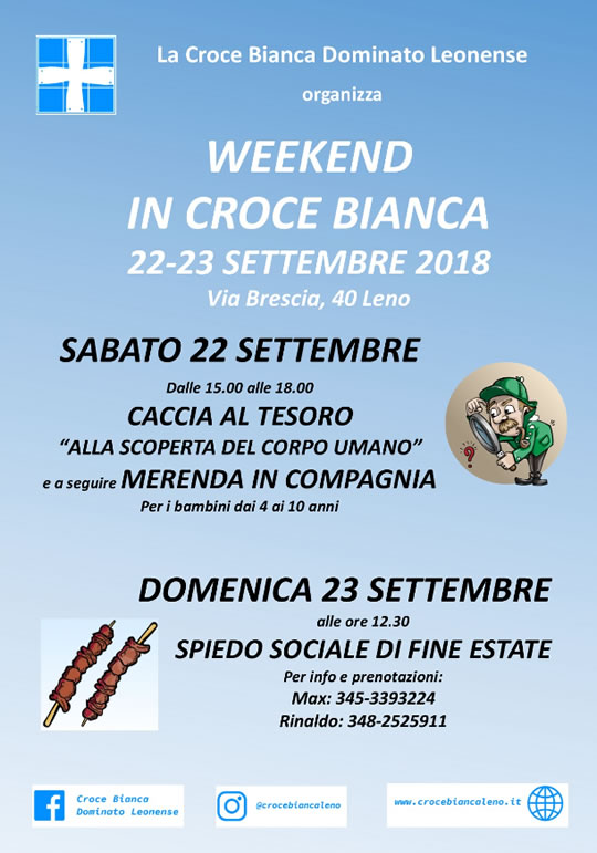 Weekend in Croce Bianca a Leno