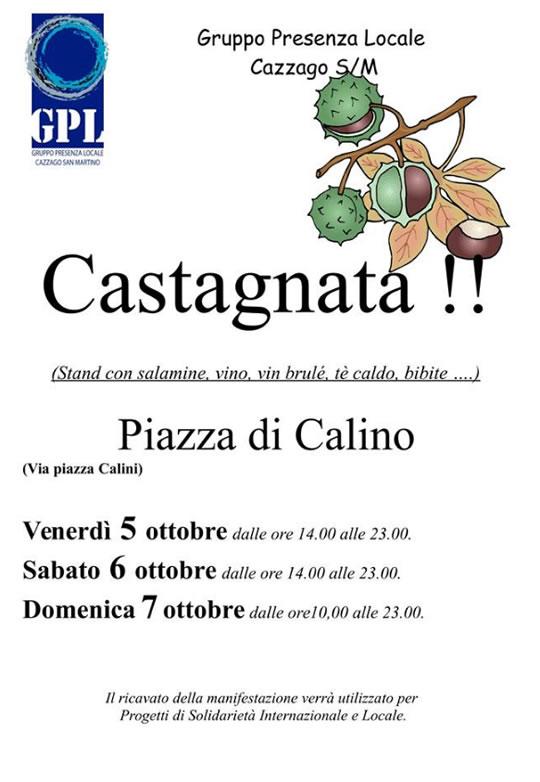 Castagnata a Calino di Cazzago SM