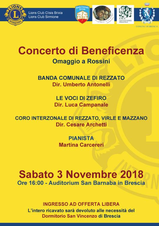 Concerto corale e bandistico a Brescia