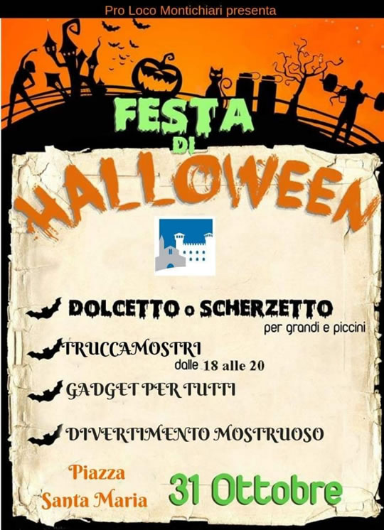 Festa di Halloween a Montichiari