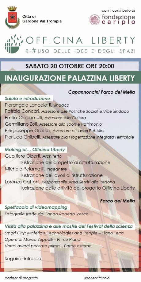 Inaugurazione Palazzina Liberty a Gardone Val Trompia