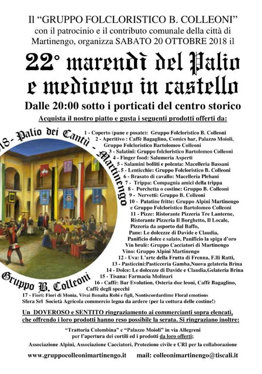 Merendì del Palio e Medioevo in Castello a Martinengo BG