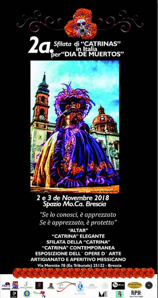 Sfilata di Catrinas a Brescia