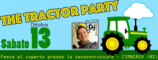 The Tractor Party a Cimbergo
