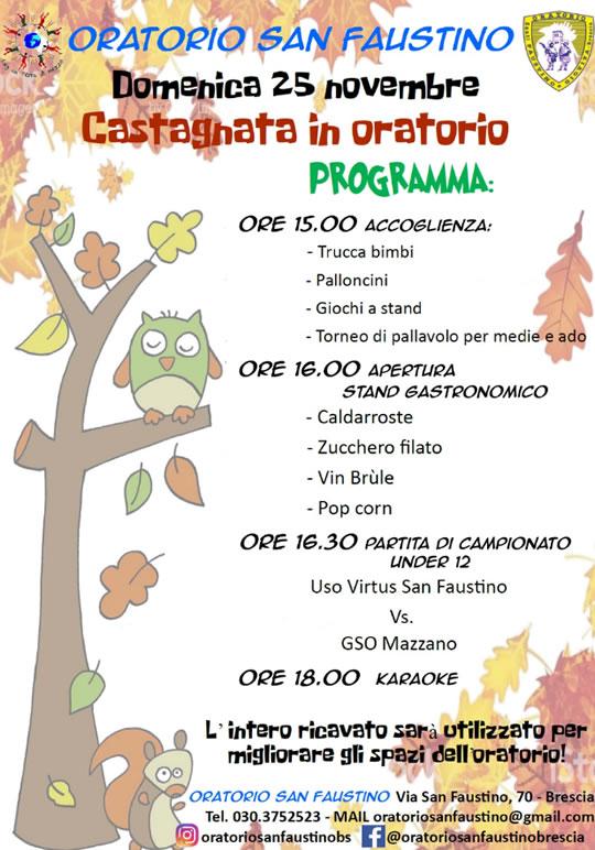 Castagnata in Oratorio a Brescia