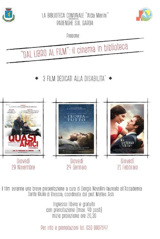 Dal libro al film il cinema in biblioteca a Padenghe
