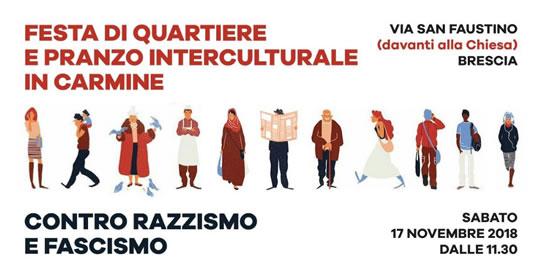 Festa di Quartiere e Pranzo Interculturale in Carmine a Brescia
