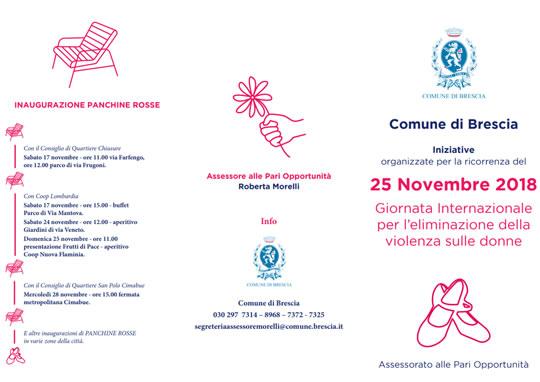 Giornata Internazionale per l'eliminazione della violenza sulle donne a Brescia