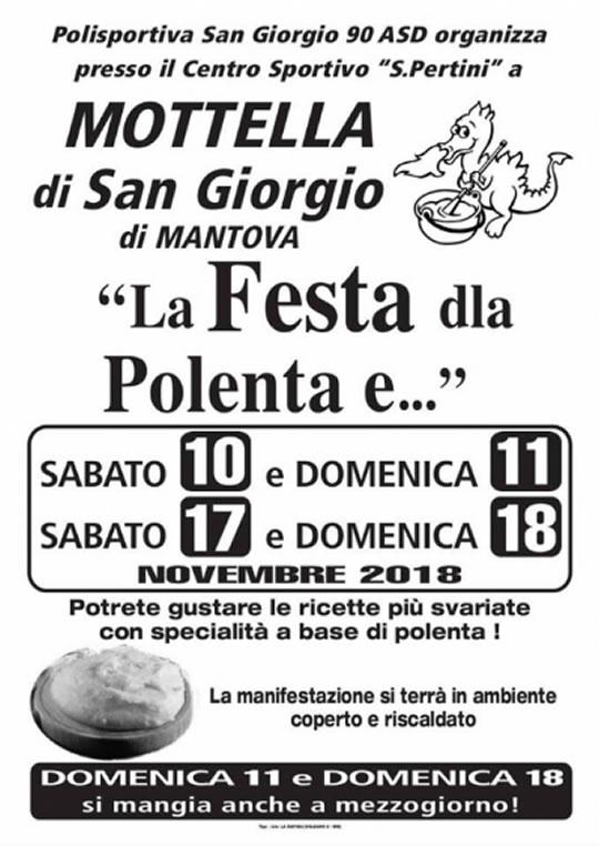 La Festa della Polenta a Mottella di San Giorgio di Mantova