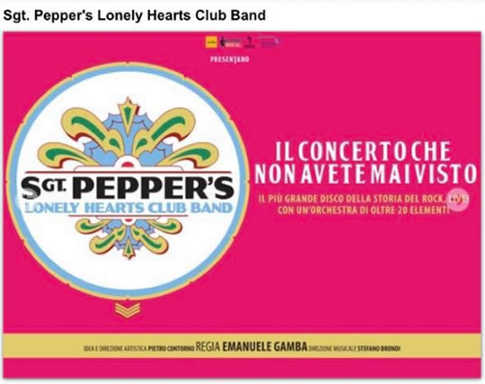 Sgt Pepper's Lonely Hearts Club Band a Milano