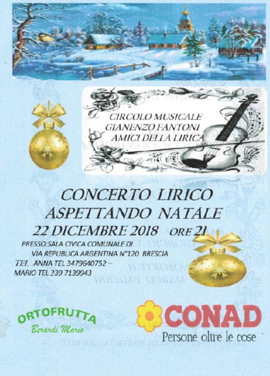 Concerto Lirico Aspettando il Natale a Brescia