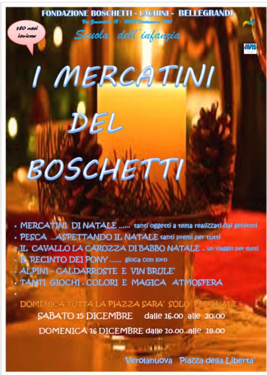 I Mercatini del Boschetti a Verolanuova