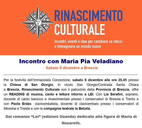 Incontro con Maria Pia Veladiano a Brescia