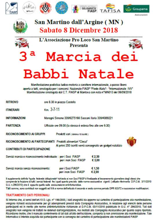 Marcia dei Babbi Natale a San Martino dell'Argine MN
