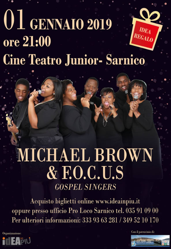 Michael Brown & Focus Gospel Singers a Sarnico