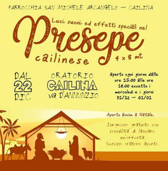Presepe Cailinese a Villa Carcina
