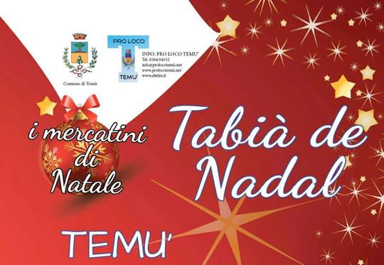 Tablà de Nadal a Temù