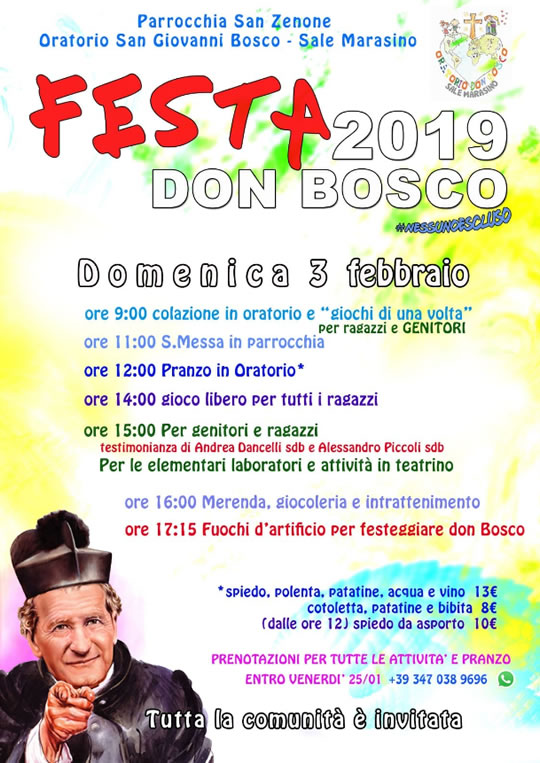 Festa Don Bosco a Sale Marasino