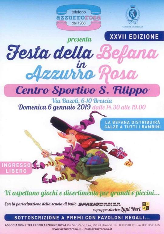 Festa della Befana in Azzurro e Rosa a Brescia